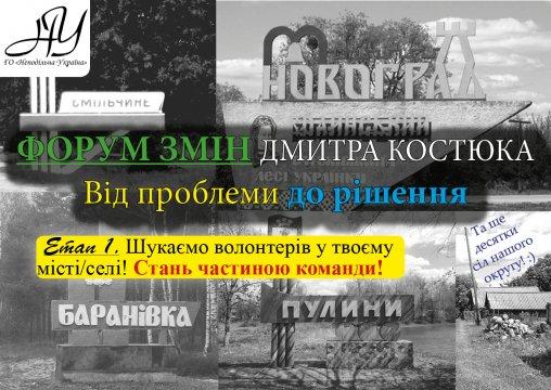 ФОРУМ ЗМІН Дмитра Костюка